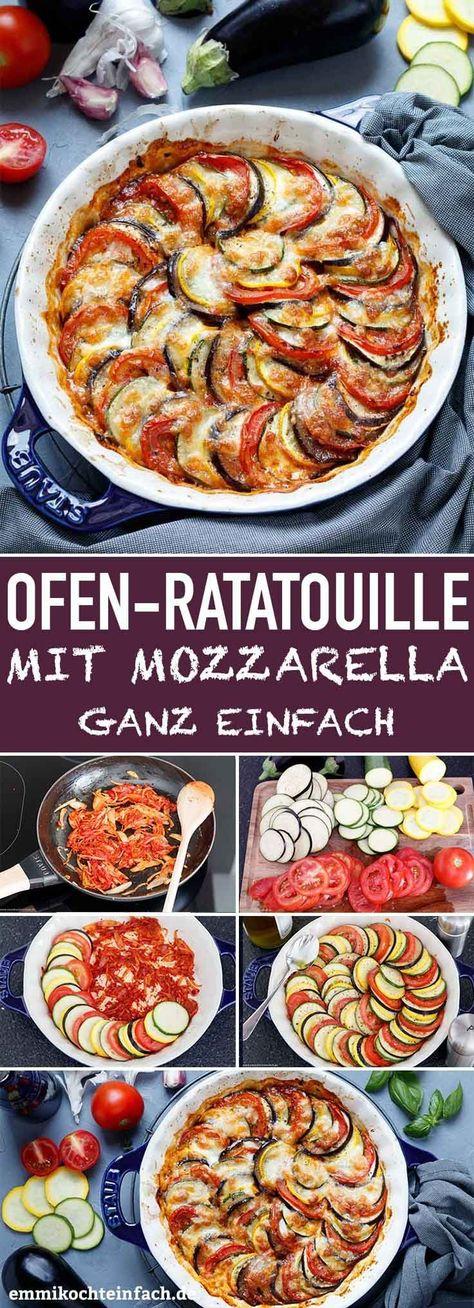 Ratatouille aus dem Ofen mit Mozzarella - emmikochteinfach