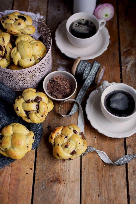 Schoko Brioche Brötchen - Chocolate Brioche Buns | Das Knusperstübchen