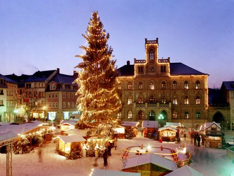 Christmas market in Weimar, Germany. This is just like the one on Chicago I go to!