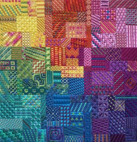 Colorwaves Canvaswork CHART Needle Delights Originals-218x218 Stitches