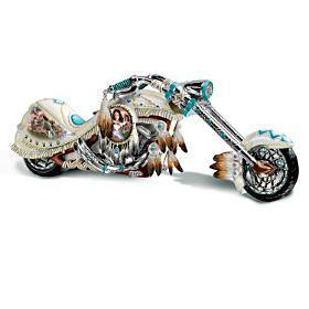 American Spirit Rider Buffalo Nickel Motorcycle Sculpture In 2021 Motorcycle Figurine Custom Bikes Custom Choppers