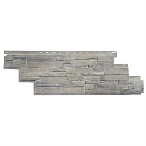 Novik Dry Stack Stone 10 Pack Vinyl Siding Panel Faux Stone Limestone 13 13 In X 41 5 In Lowe S Canada Stacked Stone Panels Faux Stone Veneer Dry Stack Stone