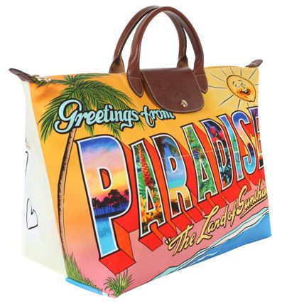2bcfe64d68f Sac Greetings from Paradise de Jeremy Scott pour Longchamp shopping sac  maroquinerie maroquinerie