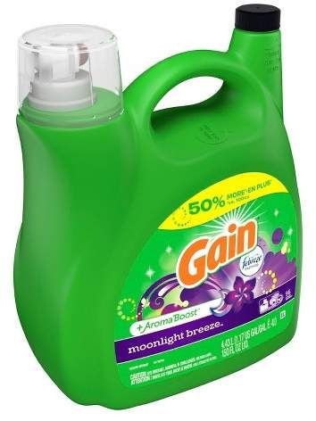 Gain 2x Moonlight Breeze Liquid Laundry Detergent 150 Fl Oz