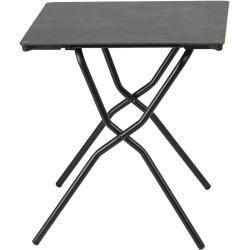 Lafuma Anytime Tisch 68x64 Cm Stahl Hpl Schwarz Volcanic Lafumalafuma Quadratische Tische Klapptisch Gartentisch