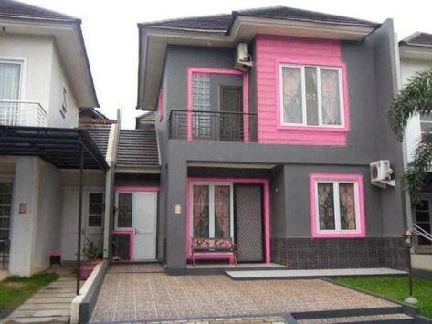 Desain Cat Rumah Minimalis Warna Pink Di 2021 Rumah Minimalis Rumah Warna