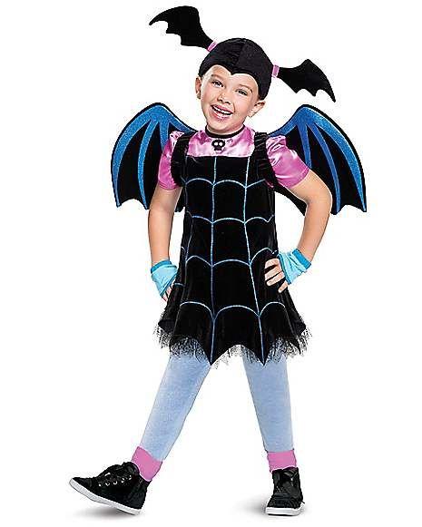Girls Cute Vampirina Cartoon Sweat Dress Halloween Party Cosplay Costume