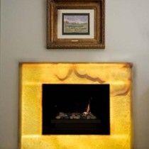 nu world led light panel backlit onyx fireplace copy