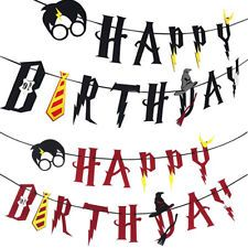 Harry Potter Party Supplies Happy Birthday Banner Felt Garland Party Decor