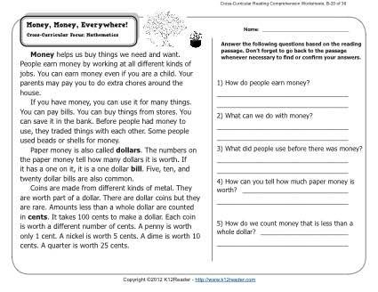 36++ Common core reading comprehension worksheets Popular