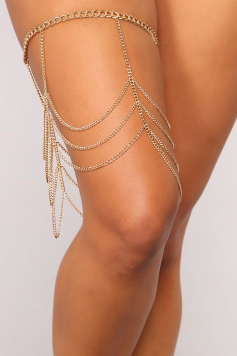 Gypsy Heart Thigh Chain - Gold