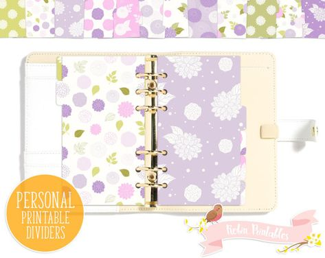 List of Pinterest filofax printables dividers dashboards beautiful