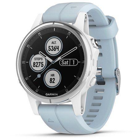 Garmin Fenix 5S Plus Glass Compact Multisport Watch with