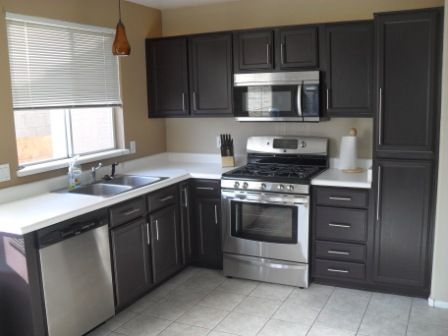 black cabinets?.. would it look ok with my flat front doors? .. i ...