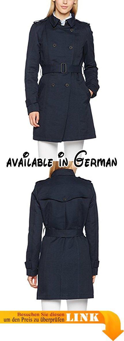 FreeQuent Damen Trenchcoat Mäntel CHIC - JA 115145, Einfarbig, Gr. 40  (Herstellergröße: L), Blau (salute 8012). #Apparel #OUTERWEAR | Fashion |  Pinterest