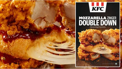 Kfc Offers New Mozzarella Zinger Double Down And New Sour Cream Onion Fries In Singapore In 2020 Sour Cream And Onion Food Kfc Offers