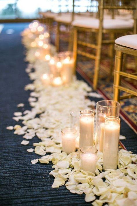 Schone Kerzen Und Blatter Hochzeit Draussen Design Dekor