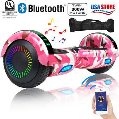 Advertisement Ebay New Bluetooth Hoverboard With Led Lights For Kids Self Balancing Scooter 6 5inch Hoverboard Cool Tech Gifts Tech Gifts