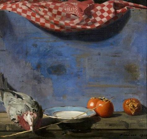 Parrot and Persimmons, 1915  by William Nicholson
