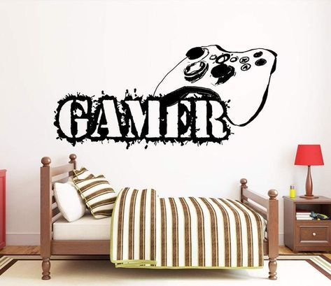 Gamer Decals If you're looking for an instant way to make your Game room or Bedroom wall pop with some fun character then our Game Decals are just what you need.With various designs detailed with fun, cool, artistic images our wall decals make all your walls come to life!They're weather-resistant and feature a supreme quality adhesive that can stick to any flat surface for as long as you leave them up.Features● A high-quality adhesive that sticks to any flat surface permanently● Quick installati