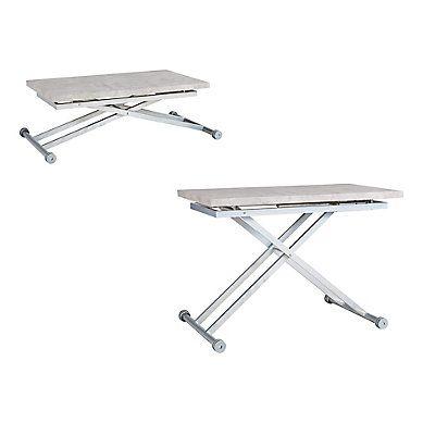 Table Basse Relevable Elio Beton Table Basse Relevable Table Basse Mobilier De Cuisine