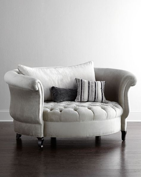 Haute House Harlow Cuddle Chair, Neiman Marcus.  DY-YING.