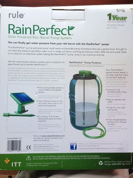 Hqcreations Solar Powered Water Pump For The Rain Barrels We Stuff Solar Powered Water Pump Solar Water Pump Solar Energy