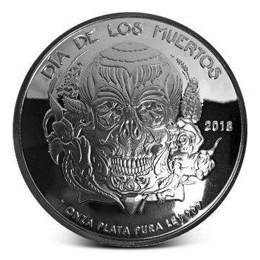 2018 Proof Dia De Los Muertos 1 Oz 9 99 Pure Silver Round Etsy Dia De Los Muertos Silver Bullion Pure Silver