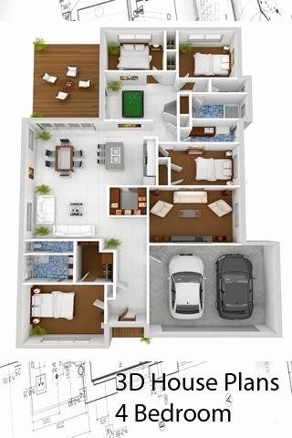 3d Home Design Software Free Download For Android Best Of 3d House Plans 4 Bedroom For Android In 2020 3d House Plans Modern House Floor Plans Four Bedroom House Plans