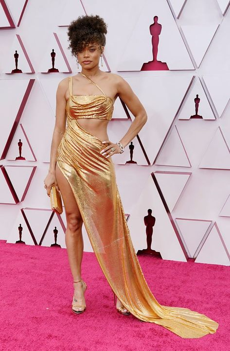 2021 Oscars Fashion I Best Actress Nominee Andra Day in custom Vera Wang #fashionstyle #stylish