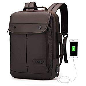 Herren Laptop Rucksack Reise Schule Schultertasche mit USB Port Arbeit Tasche