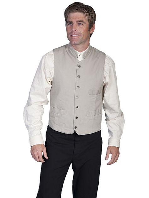 New Men/'s Scully Rangewear Frontier Vest Western Cowboy Rodeo Dress Brown