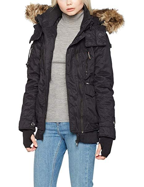 Khujo Damen Jacke Furs Schwarz Black 200 Medium Winter Outfits Frauen Schnee Mode Wintermode Kalt Ka Khujo Damen Jacken Legere Winterbekleidung