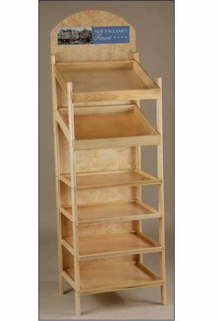 Large Capacity Slant Shelf Display Display Shelves Bakery