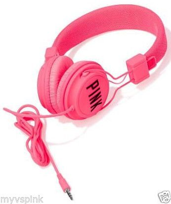 Victoria's Secret PINK DJ Headphones Neon Hot Pink http://stores.ebay.com/VSPINK-STORE