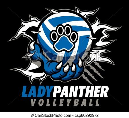 Lady Panther Volleyball Csp60292972 Volleyball Volleyball Designs Art Icon