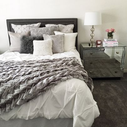 Bedroom Ideas With White Comforter Apartment Decor Bedroom Makeover Home Bedroom decor ideas white