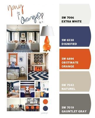 Decor Color Scheme Orange Navy Boys Room Blue Orange Boys Rooms Bedroom Orange