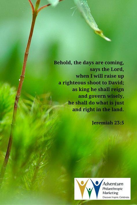 December 18, 2015 – Jeremiah 23:5