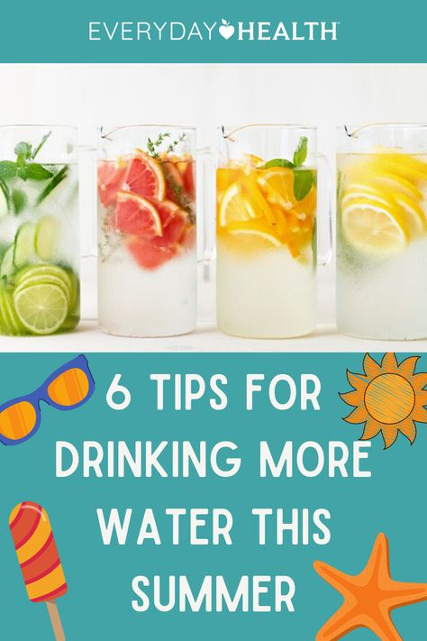 Learn how to stay hydrated and drink more water this summer.
