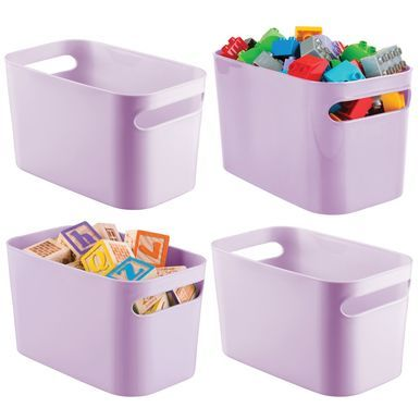 Plastic Kids Toy Storage Bin Organizer Tote Bin 10 X 6 X 6 In 2020 Toy Storage Bins Kid Toy Storage Toy Storage