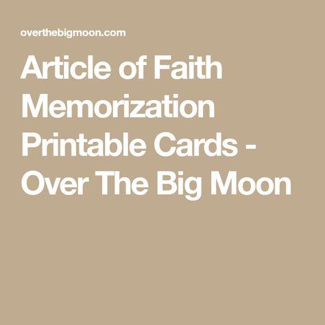 Article of Faith Memorization Printable Cards