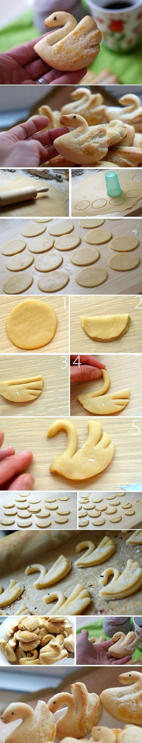 Swan shaped cookies                                                                                                                                                      Mais