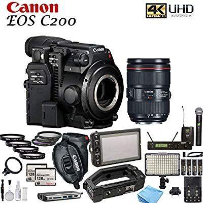 Amazon Com Canon Eos C200 Cinema Camera With Canon Ef 24 105mm F 4l Is Ii Usm Lens Movie Makers Bundle Camera Photo En 2020