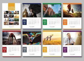 Hade Simple Wall Calendar Design 2019 And 2020 Template Psd