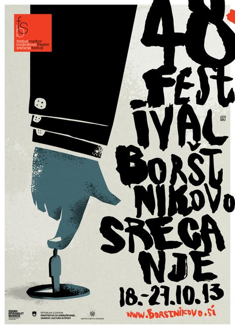 Maribor Theatre Festival by Nenad Cizl, via Behance - Fanstastic Typography! Love the sloppy look.