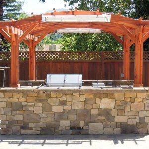 Marin Outdoor Kitchen Pergola Pergola Outdoor Kitchen Backyard