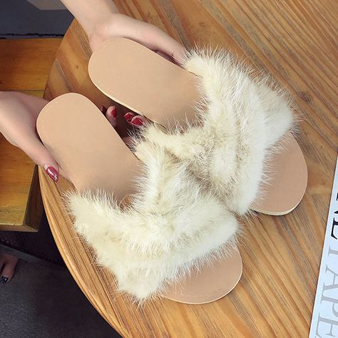 5c9b9373416 Plush Home Soft Comfortable Portable Flat Slippers For Women