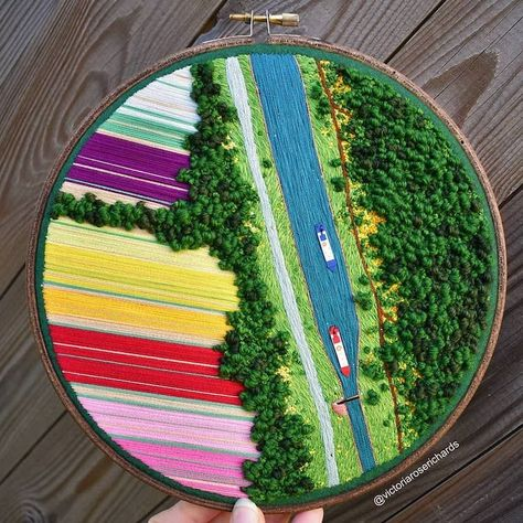 3D Landscape Embroidery by Victoria Rose Richards