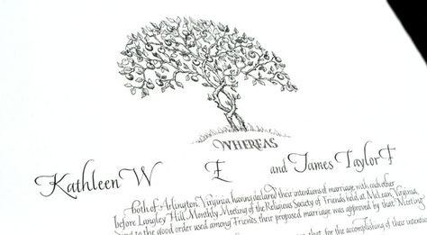 Sally Sanders Entwined Trees from Wedding Certificate 20 June - wedding certificate template